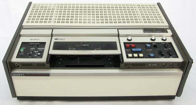 U-matic Portable Videocassette Recorder R-Player Sony; Tokyo
